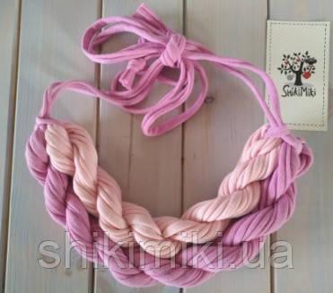Колье женское вязаное из трикотажной пряжи Розалинда