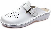 Женские ортопедические тапочки для проблемных ног OrtoMed 3710 Белые, Пряжка
