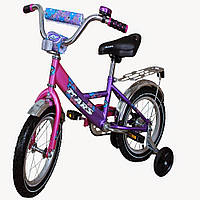"""Велосипед Марс 14"""" (розовый / фиолетовый)"""