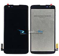 Модуль Дисплей LG MS330 K7, LS675 Tribute 5 с тачскрином, черный (оригинал)