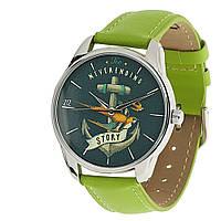 """Часы наручные """"Бесконечная история"""" с якорем зеленые, фото 1"""