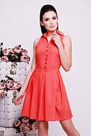 Коралловое летнее платье АССОЛЬ 42-50 размеры