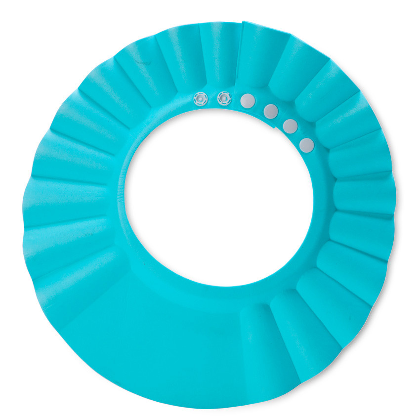 Шапочка для душа Козырек для купания малышей Защита глаз Синий