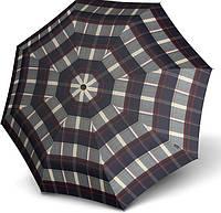 Универсальный зонт полный автомат Knirps T.200 Check Navy & Bordeaux Kn9532005480, серый с бордовым
