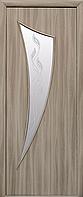 Двері міжкімнатні Новий Стиль, МОДЕРН, модель Парус Екошпон, зі склом сатин з малюнком Р3