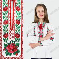 Красивая детская вышиванка с розами , фото 1