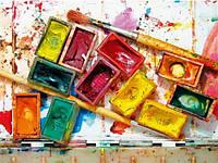 Акварельные художественные краски