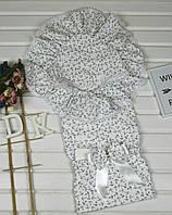 Конверт-одеяло Мечта белый с якорьками летний, тм Лари