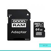 Карта памяти micro SDHC UHS-1 64Gb Goodram + adapter