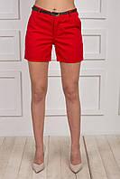 Красные котоновые шорты
