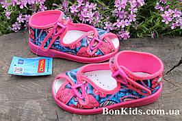 Тапочки детские на девочку Zetpol Зетпол текстильная обувь р.20,27