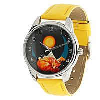 """Часы наручные """"Лис"""" яркие желтые, фото 1"""