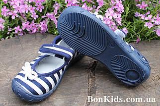 Польские тапочки на девочку рисунок полоска, детская текстильная обувь тм 3 F р.30, фото 2