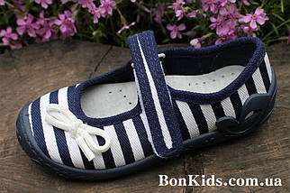 Польские тапочки на девочку рисунок полоска, детская текстильная обувь тм 3 F р.30, фото 3