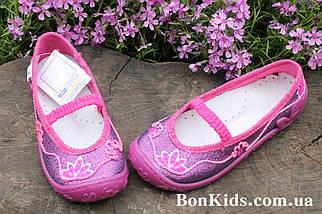 Польские тапочки на девочку детская текстильная обувь тм 3 F р.26, фото 3