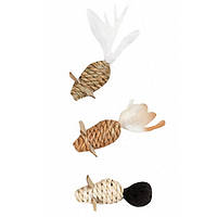 Игрушка Karlie-Flamingo Mice Seaweed Nature для кошек плетеная, 2,5х5 см