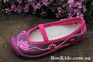Польские тапочки на девочку детская текстильная обувь тм 3 F р.26, фото 2
