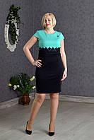 Изящное платье р.50-54 цвет Бирюзовый V278-3