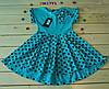 Летнее трикотажное платье   для девочки 3-8  лет