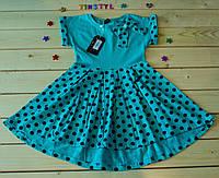 Летнее трикотажное платье   для девочки 3-8  лет, фото 1