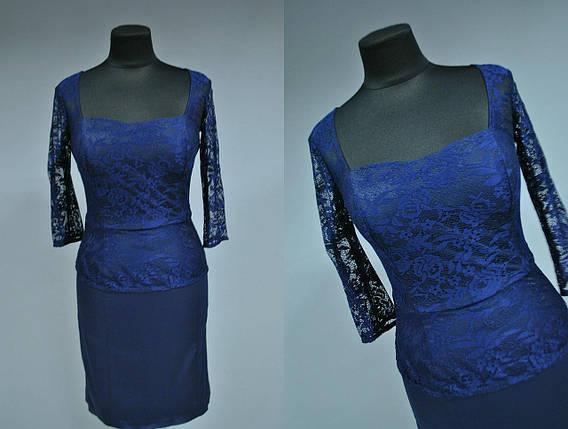 Шикарное женское платье с плотным кружевом 42, 44 размеры норма, фото 2