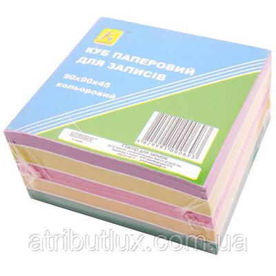 Блок 500 листов 90х90мм цветной