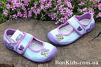 Польские тапочки на девочку с вышивкой детская текстильная обувь тм 3 F р.26,30