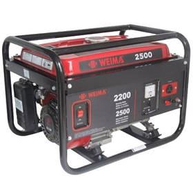 Бензиновый генератор WEIMA WM2500 бензогенератор 2,5Квт,1 ФАЗА , вес 43кг,   ручной старт