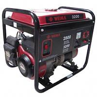 Бензиновый генератор WEIMA WM3200E, бензогенератор 3,2Квт, 1 ФАЗА,  вес 53кг,    Электростарт
