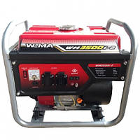 Бензиновый генератор WEIMA WM3500i-2, бензогенератор 3,5Квт, 1 ФАЗА,  вес 37кг,    ИНВЕРТОР