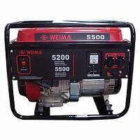 Бензиновый гениратор WEIMA WM5500E бензогенератор 5,5Квт, 1 ФАЗА,  вес 85кг,     Электростарт