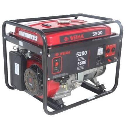 Бензиновый генератор WEIMA WM5500 ATS   бензогенератор 5,5Квт,1 ФАЗА, вес 85кг,    автоматика   + БЕСПЛАТНАЯ ДОСТАВКА ПО УКРАИНЕ, фото 2