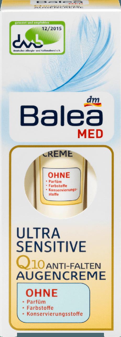 Крем Balea med ultra sensitive вокруг глаз для чувствительной кожи 15мл