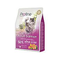 Profine Cat Derma Adult Salmon - корм для длинношерстных кошек, 2кг