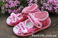 Тапочки на девочку ViGGaMi в сердечка польская детская обувь р.19,20,23,25,26,27