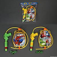 Водяной пистолет 211-222 с балоном-рюкзаком для воды Супергерой
