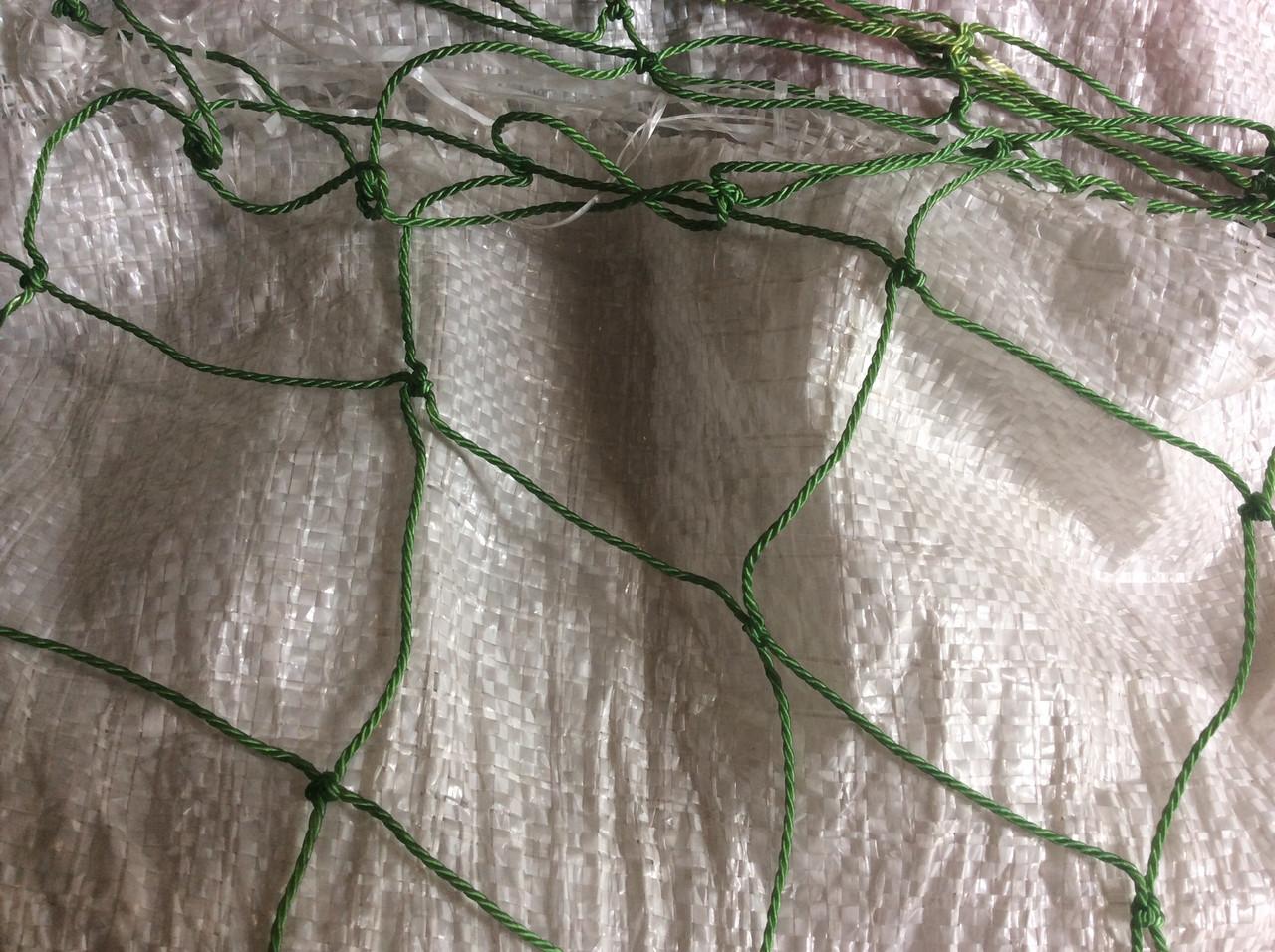 Сетка капроновая ячейка 80мм нитка 2мм зеленая