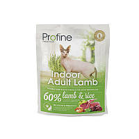 Profine Cat Indoor Adult Lamb - корм для кошек (выведение шерсти), 0,3кг