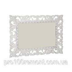 Зеркало ИМПЕРИЯ 1.0х0.8м белый глянец от Миро-Марк