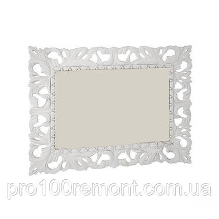 Зеркало ИМПЕРИЯ 1.2х1.0м белый глянец от Миро-Марк, фото 2