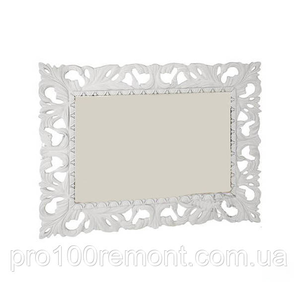 Зеркало ИМПЕРИЯ 1.2х1.0м белый глянец от Миро-Марк