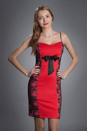 Жіноче плаття коктейльне, прикрашене мереживом, з мереживним болеро, фото 2
