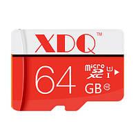 Микро sd карта памяти на 64 Gb, с 10-м классом скорости