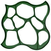 """Форма """"Круглые камни"""" 80х80х6см, пластиковый трафарет для садовой дорожки"""