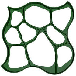 Форма для садовой дорожки Круглые камни, 80х80х6см, пластиковый трафарет