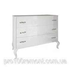 Комод ИМПЕРИЯ белый глянец 3 ящика от Миро-Марк