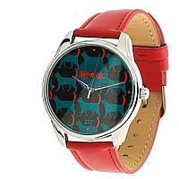 """Часы яркие в подарок красные """"Котятки"""""""