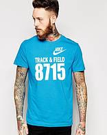 Мужская Футболка Nike Track & Field 815 голубого цвета, фото 1