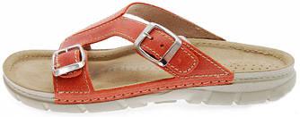 OrtoMed 3024 Оранжевые, Пряжка - Женские ортопедические босоножки для проблемных ног