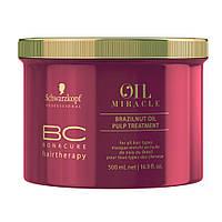 Маска с маслом бразильского ореха SCHWARZKOPF BC OM Brazilnut Oil Pulp Treatment 500 мл
